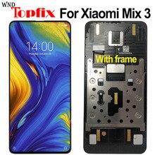 Bloc écran tactile LCD Amoled avec châssis, 6.3 pouces, pour Xiaomi Mi Mix 3 M1810E5A