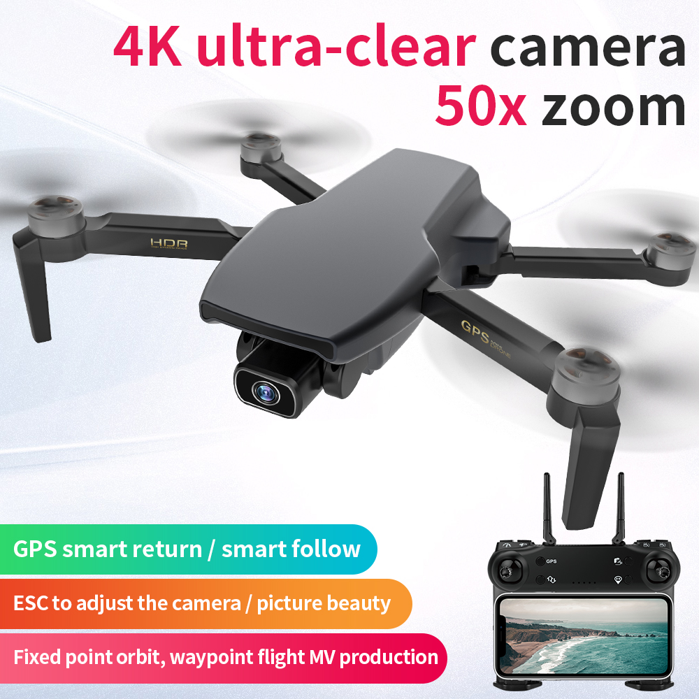 KCX SG108 Camera Drone 4K GPS 5G WiFi Brushless Motor FPV Long Distance 1km RC Quadcopter Drone 4K Professional 4