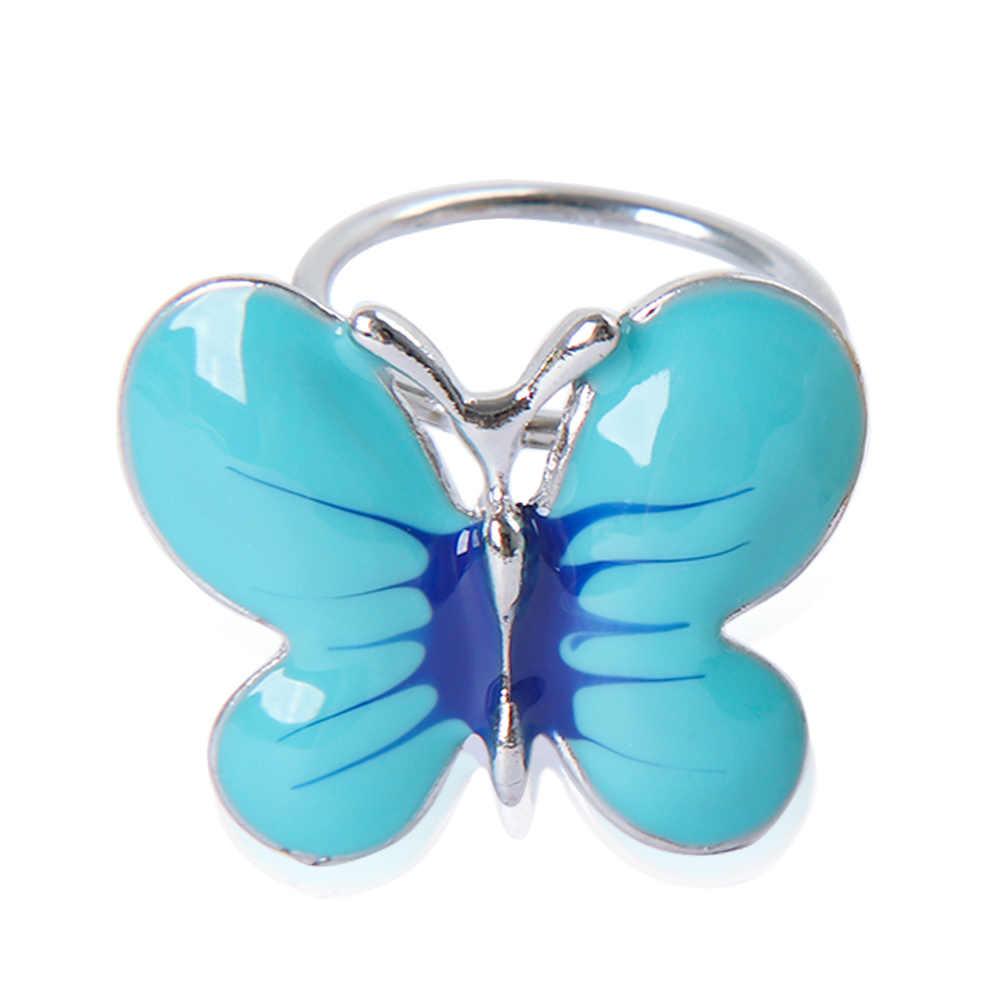 Fashion Alloy Biru Pink Butterfly Bros Syal Gesper Pin Klip Alami Serangga Bentuk Bros untuk Wanita Syal Perhiasan Aksesoris