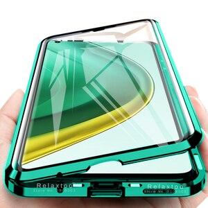 Image 1 - Mi10t פרו מקרה 360 ° מלא כיסוי מתכת מסגרת מגנטי flip כיסוי עבור xiaomi mi 10t פרו 5g 6.67 דו צדדי מזג זכוכית coque
