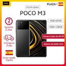(-14€ code:AEMARDEAL14 )POCO M3 – Smartphone, Version globale, 4 go 64 go/4 go 128 go, Snapdragon 662, écran 6.53 pouces, caméra 48mp, 6000mAh, pocom3