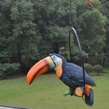 Домашнее украшение садовый полимерный попугай уличная вилла