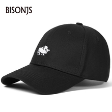 BISONJS 2020 Fashion Cotton Men Baseball Caps Embroidery Cow Dad Hats Vintage Women Sports Outdoor Gorras Adjustable Hip Hop Cap