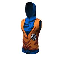 2020 lato nowe Anime Tank Top drukowanie 3D bez rękawów obcisłe koszulki podkoszulki Jogging Fitness Sport kamizelka z kapturem szybkie suszenie topy tanie tanio CN (pochodzenie) summer Poliester