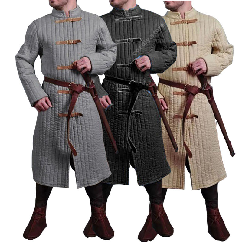 Sleeveless Medieval Viking Armor Short Padded Gambeson