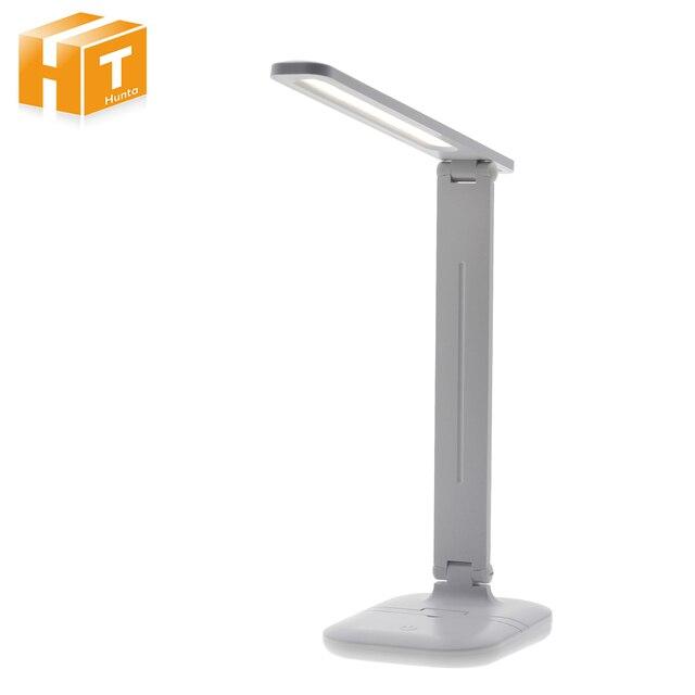 Светодиодный настольный светильник, складной сенсорный диммер, настольные лампы, USB зарядка, защита глаз, светильник для чтения с многофункциональной базой