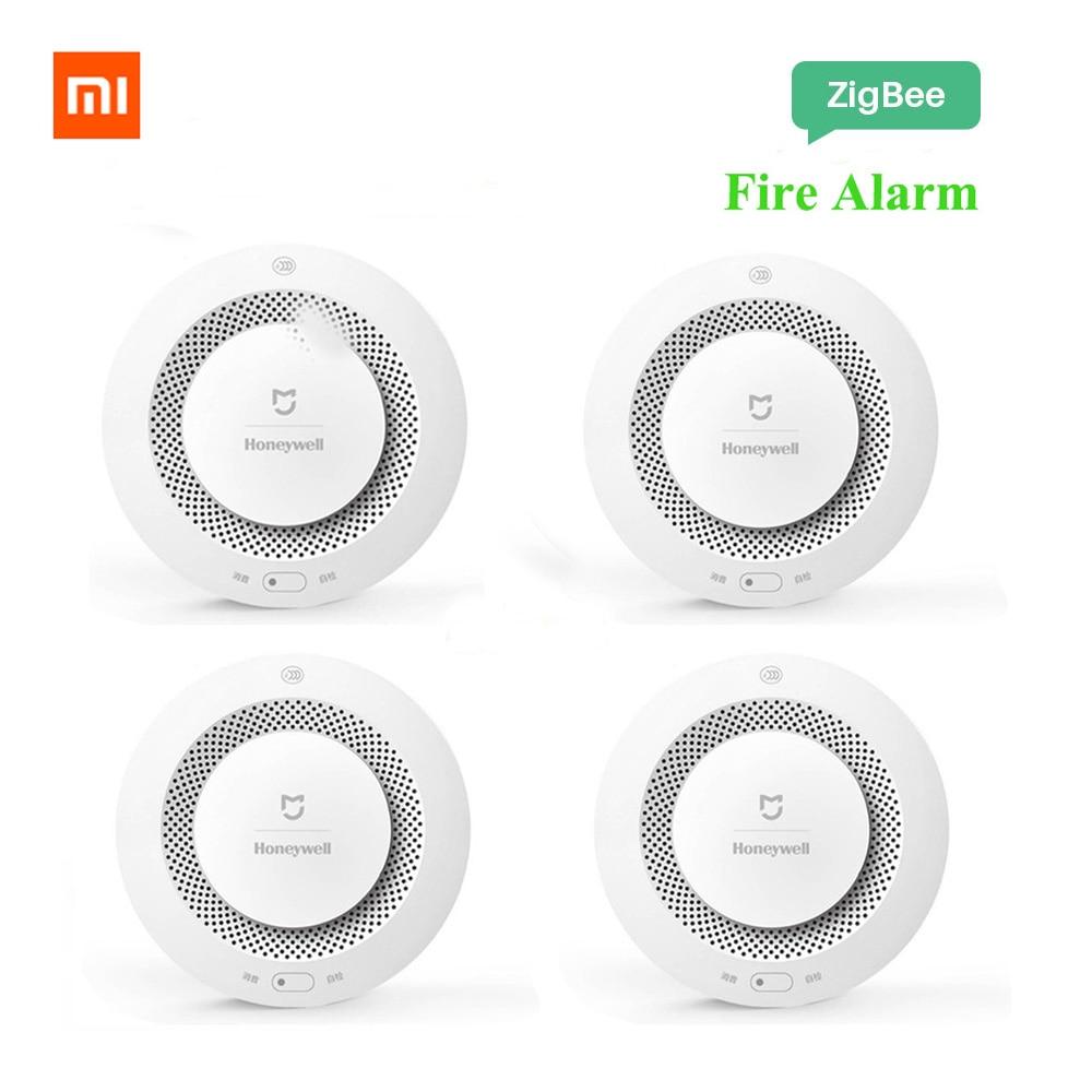 Original Xiaomi Mijia Honeywell Fire Alarm Detector Audible Visual Smoke Sensor Remote Mi Home APP Smart Control Fire Alarm