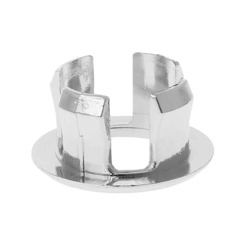 1pc Bathroom Basin Sink Overflow Ring Six-foot Round Insert Chrome Hole Cover Cap