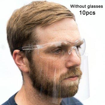 Uniwersalna osłona twarzy okulary pokrywa ochronna przezroczysta maska wielokrotnego użytku Zero Contact trwała maska tanie i dobre opinie LESHP NONE CN (pochodzenie)