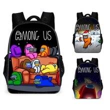 Pupil-Backpack Game-Figure School-Bag Children Among Anime Waterproof US Christmas-Gifts