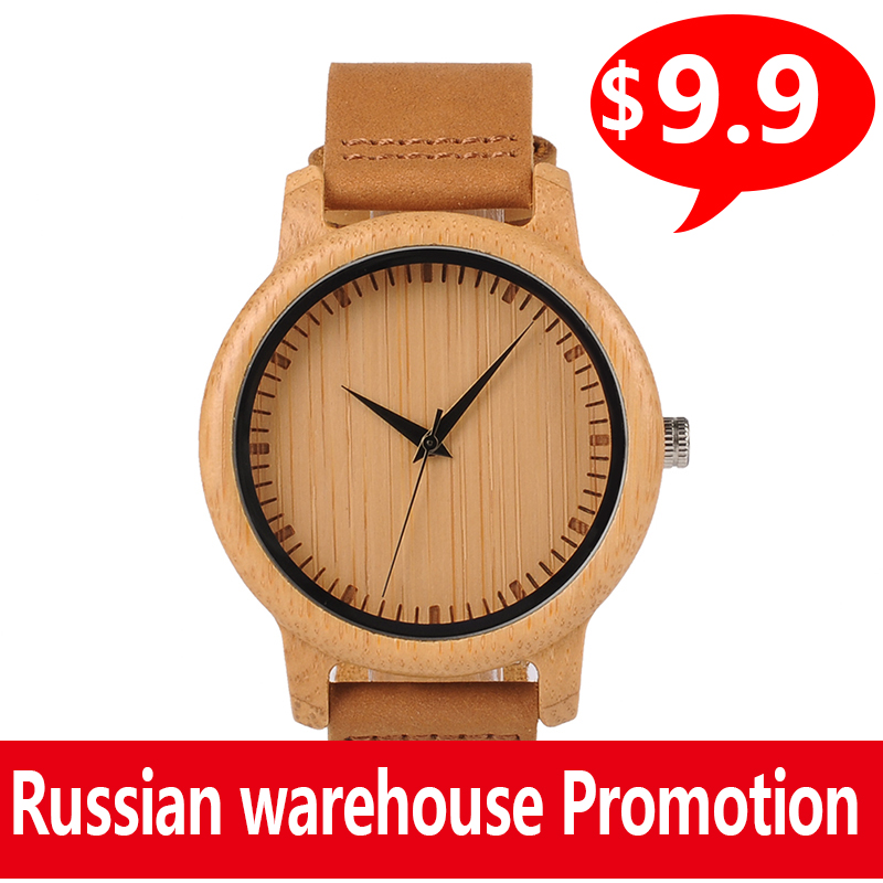 Promotion BOBO BIRD Wood Men Watch Clearance High Quality Bamboo Quartz Wristwatch For Him Gift Relogio Masculino