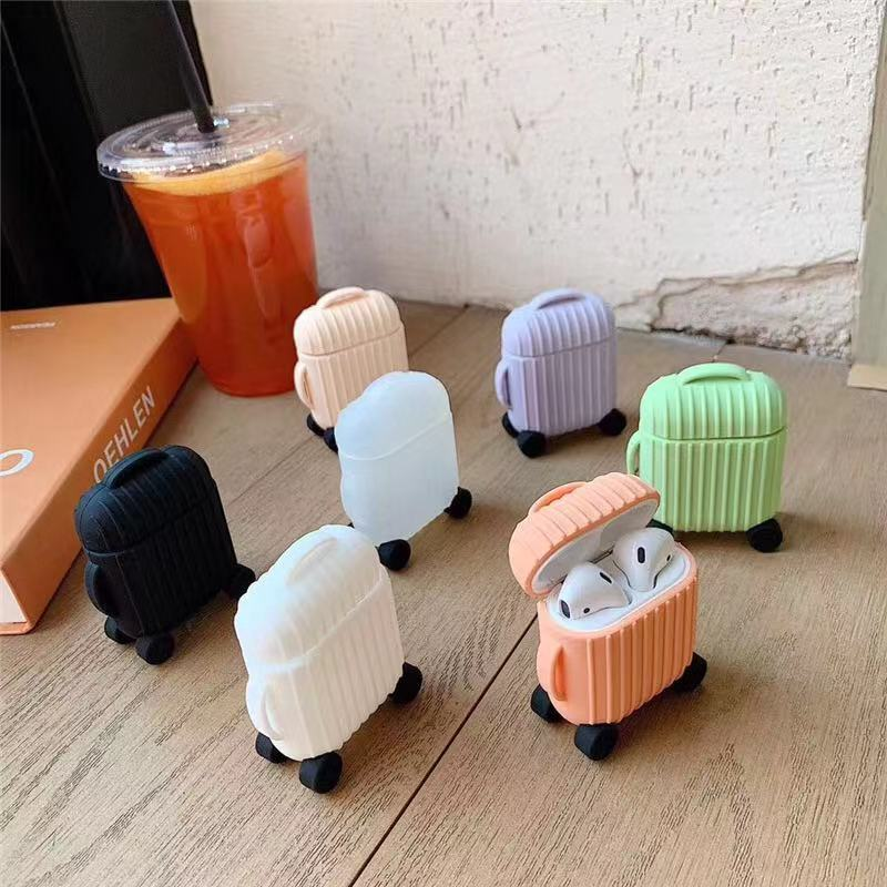 Cute Trunk Box Earphone Case Funda For AirPods Case Mini Simple Accessories Headphone Silicon Cover Luxury For Air Pods 2 Case