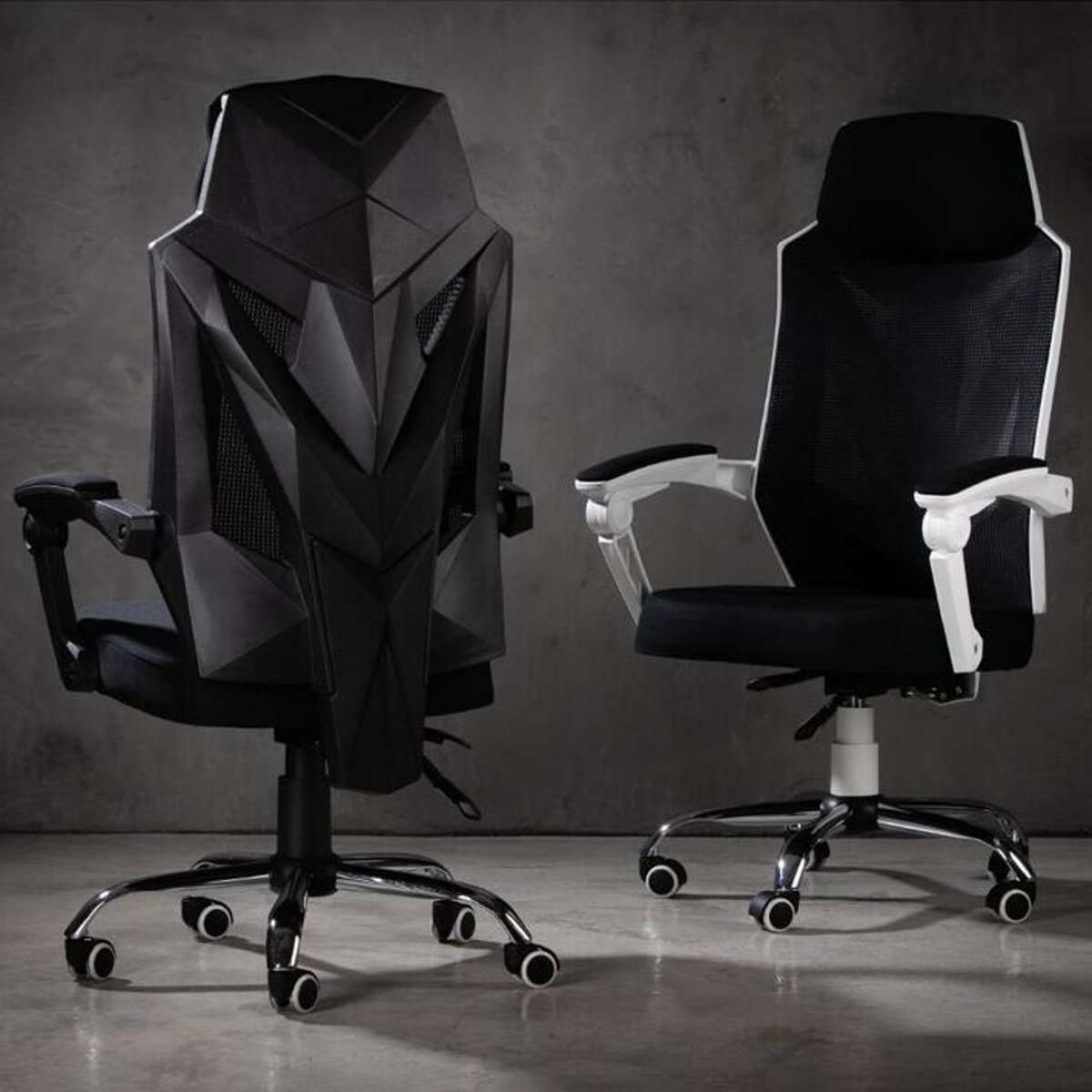 Adjustable Mesh Racing Gaming Chair High Back Ergonomic Office School Chair Recliner Seat With Footrest Computer Chair Furniture