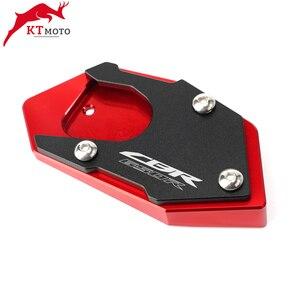Image 5 - Placa de soporte de almohadilla de extensión de caballete CNC para motocicleta Honda CB 650R CBR 650R CB650R 2003 2012
