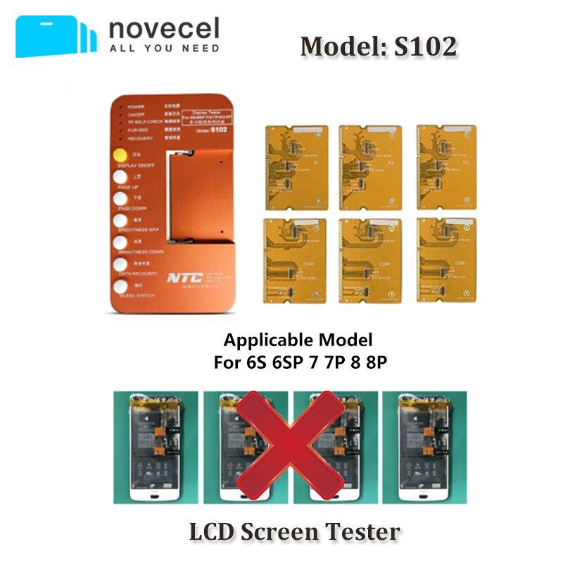 6 em 1 para o iphone 6 s 6 s plus 7 mais 8 8 mais caixa de verificador tela toque com placa teste lcd caixa testador ferramentas
