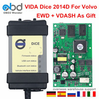 Full Chip For Volvo Vida Dice Pro Car Diagnostic Tool Software 2014D OBD2 Scanner For Volvo EWD VDASH Firmware Update Self Test