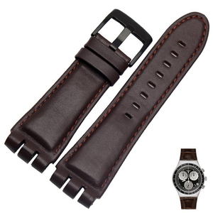 Image 4 - 23MM Genuine Calf Leather Watch Band Steel Clasp For Swatch IRONY YOS440 449 448 401G Watch Strap Watchband Bracelet Wrist Man
