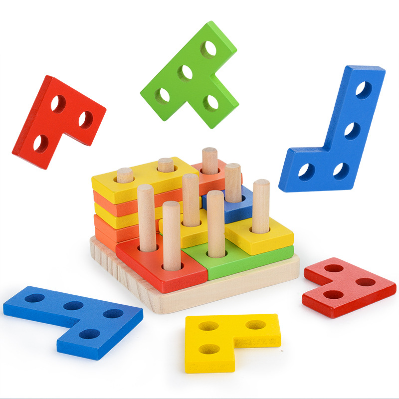 Montessori Toys Educational Wooden Math Toys For Children Early Learning Improve Kids Intelligence Geometric Shapes Matching