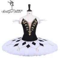 Women Harlequinade Professional Tutu White Black Pancake Platter Performance Tutus Ballet Stage Costume Tutu Costume BT9228