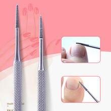 Пилка для ногтей из нержавеющей стали двухсторонняя пилка педикюра