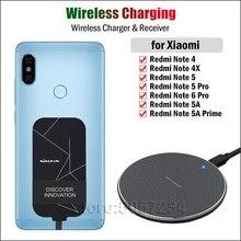 טלפון אלחוטי טעינה עבור Xiaomi Redmi הערה 4X 4 5 6 פרו 5A ראש צ י אלחוטי מטען + USB טעינה מקלט מיקרו מתאם