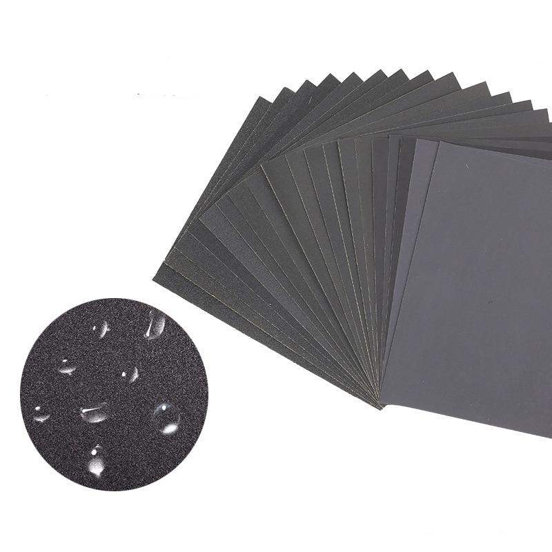 1 Pcs 280*230mm  Water Resistant Abrasive Paper Water Abrasive Paper 60 Mesh To 2000 Mesh Sanding Paper Polishing Abrasive Paper