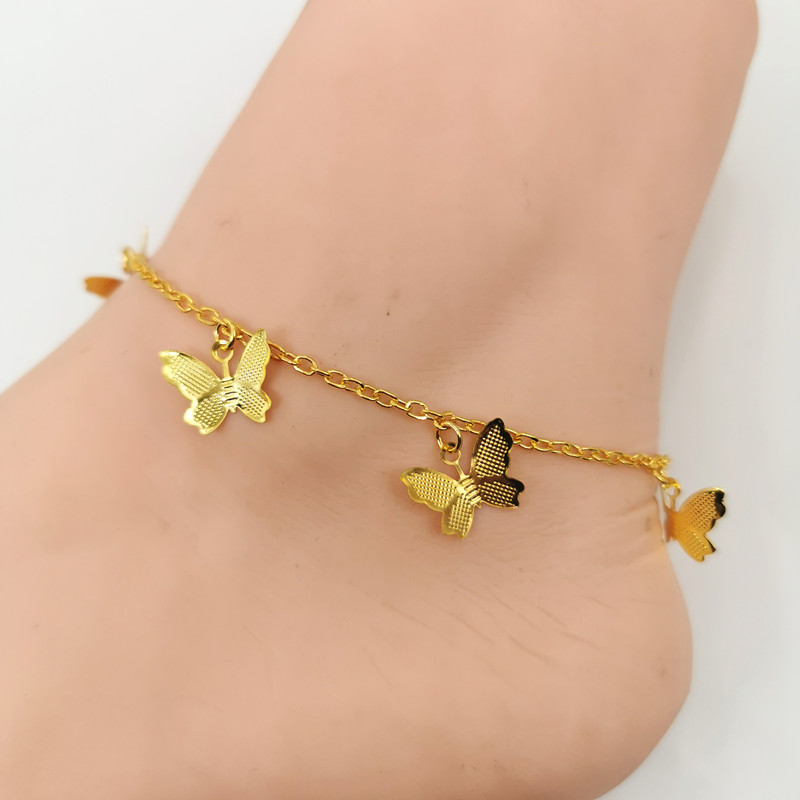Fashion Star Butterfly Anklets for Women 2020 Bohemian Beach Anklet Gold Silver Color Chain Ankle Bracelet on Leg Foot Jewelry