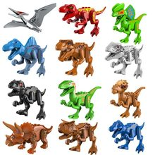 T-Rex Compatible Jurassic Dinosaurs World 2 Sets Blocks Building Mini Brick Figures Legoinglys Toys For kids Christmas gift