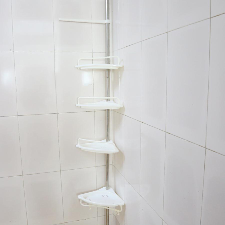 Corner-Rack Shelf Soap Toothbrush Shampoo Storage-Organizer Telescopic Adjustable Bathroom