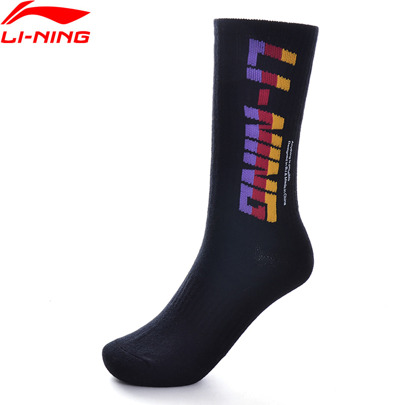 Li-Ning Men The Trend Sports Socks 24-26cm Cotton Acrylic  Polyester Spandex LiNing Li Ning Socks AWLP143 NWM465