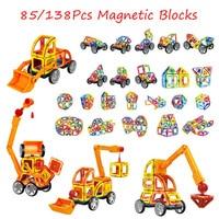 138pcs Magnetic Blocks Magnetic Designer Building Construction Toys Set Magnet Educational Toys For Children Kids Gift