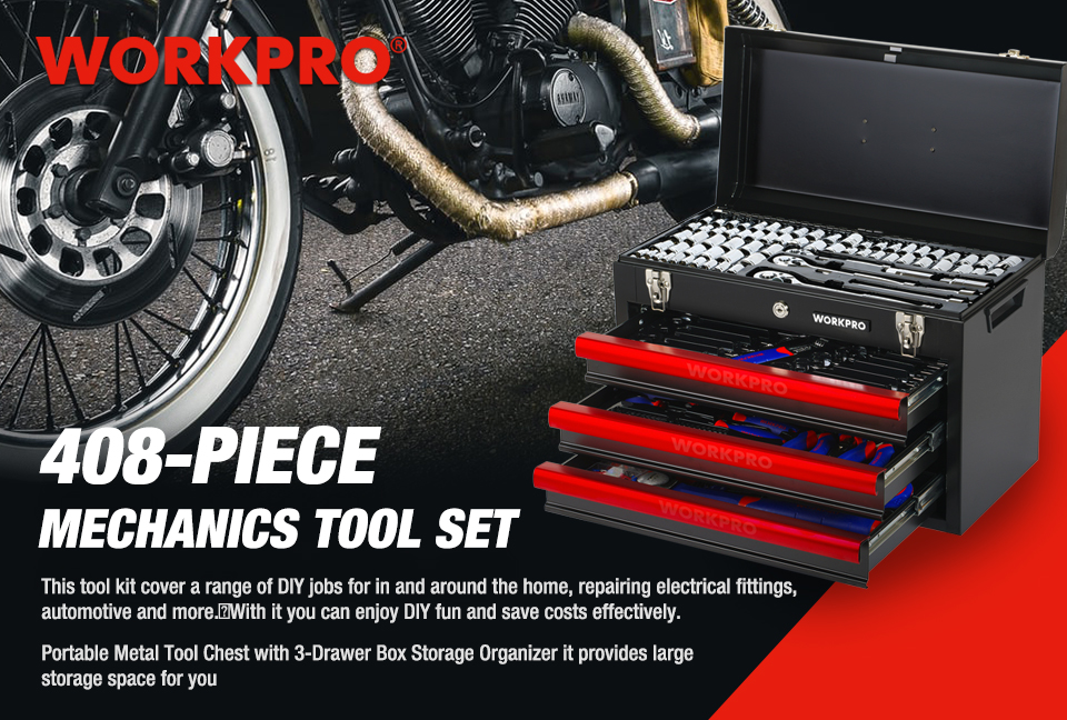 WORKPRO 408PC Home Tool Set