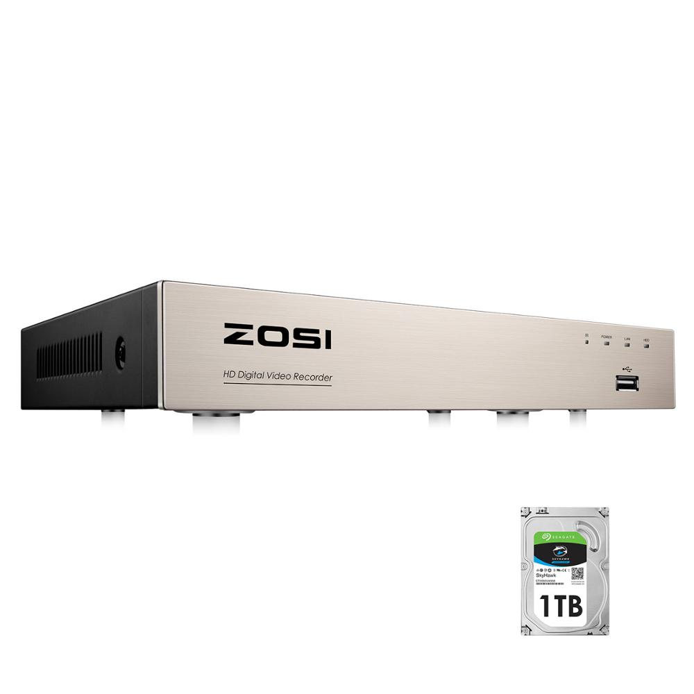 ZOSI 8 Channel  H 265  TVI 4-IN-1 DVR 1080N 720p Security CCTV DVR 8CH Mini Hybrid HDMI DVR Support Analog AHD TVI CVI Camera