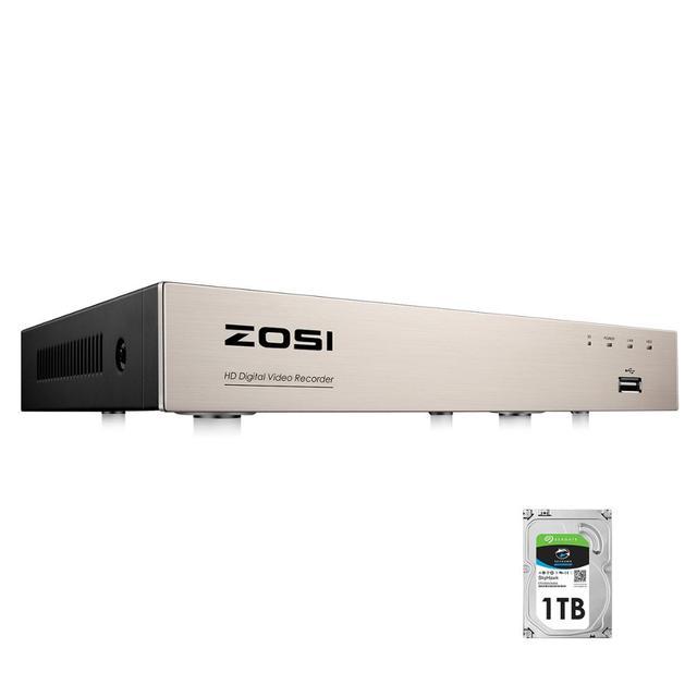 ZOSI cámara DVR de 8 canales H.265 + TVI, DVR 4 en 1, 1080N/720p, CCTV de seguridad, DVR, 8 canales, Mini HDMI híbrido, DVR, compatible con cámara analógica/AHD/TVI/CVI