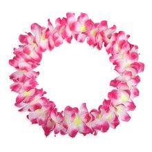 1 шт. Гавайская тропическая Лейс искусственная Цветочная Гирлянда ожерелье для Маскарадного Платья пляжные вечерние украшения для дома