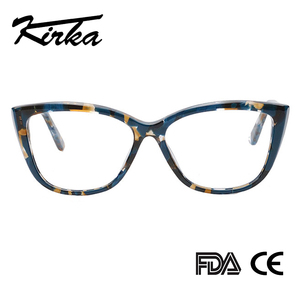 Image 3 - Kirka Cat Eye Frame Eyeglass Women Frame Acetate Clear Fashion Glasses Frame Optical Women Reading Glasses Eyeglasses Myopia