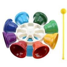 IRin Красочные 8 нот ударный Колокольчик колокольчик музыкальная игрушка для детей дети ребенок Раннее Образование музыкальный Instrment подарок