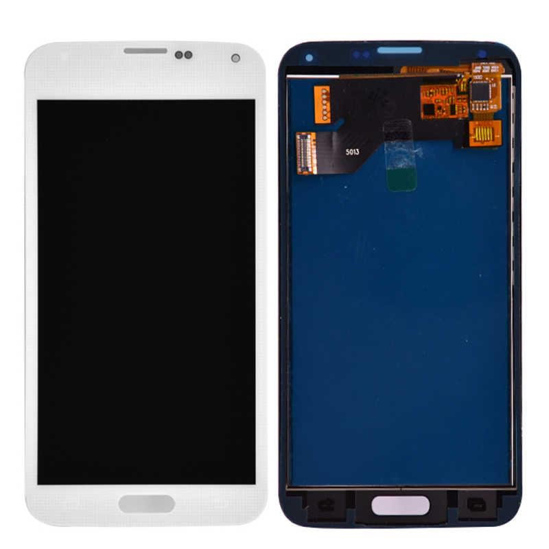 Untuk Samsung S5 G900F Display LCD Layar Sentuh Digitizer Perakitan Kompatibel untuk Samsung Galaxy S5 G900 G900A G900T G900I LCD