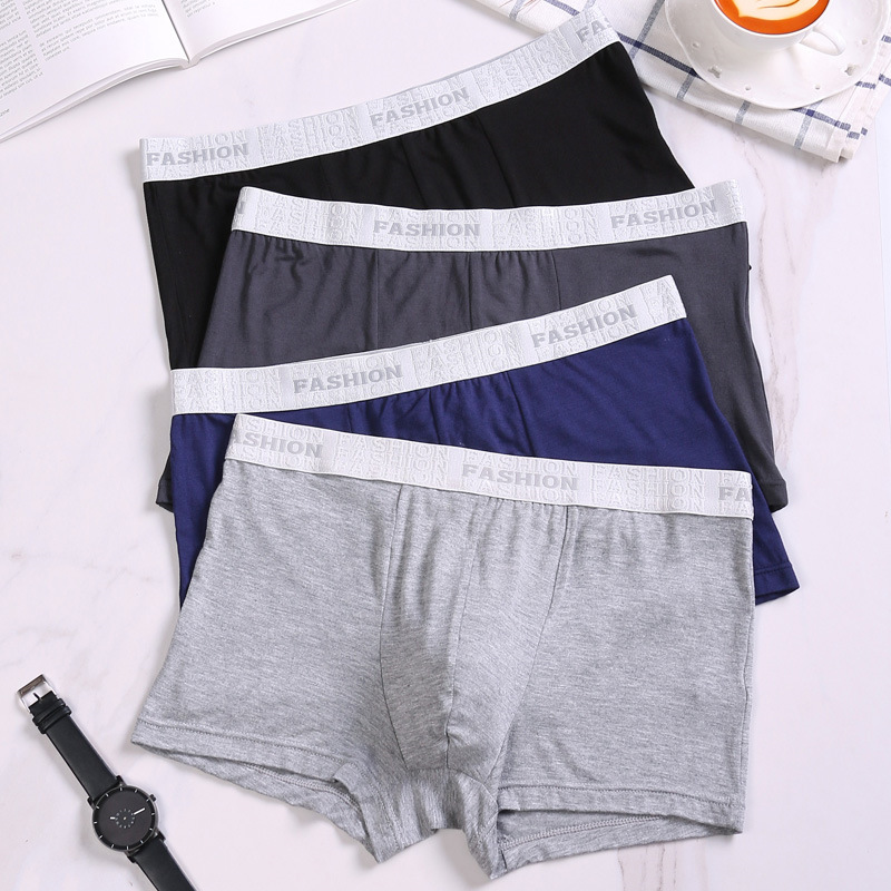 Youlehe Men's Underwear Panties Boxer-Shorts Sexy Male Brand Soft Cuecas