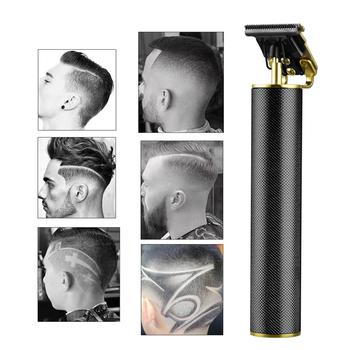 Maszynka elektryczna do włosów dla mężczyzn elektryczna maszynka do strzyżenia włosów USB do ładowania dla fryzjerów trymer do brody do stylizacji fryzury dla mężczyzn tanie i dobre opinie CN (pochodzenie) WITH COMB Maszynka do włosów stainless steel aluminium alloy ceramics RC409HA USB rechargeable DC5V