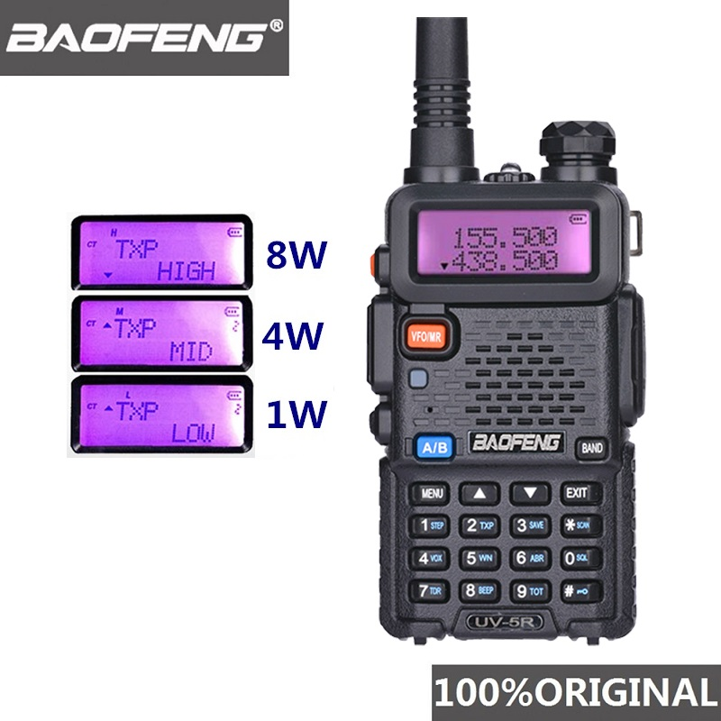 Baofeng UV-5R 8W Hunting Walkie Talkie UHF VHF Radio Comunicador Baofeng UV 5R Ham Radio UV5R Walkie-talkie PTT CB Radio Station