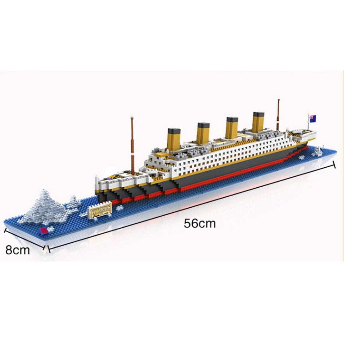 Hot LegoINGlys créateurs classique Deluxe croisière Titanic film navire mini micro diamant blocs de construction modèle briques jouets pour cadeaux