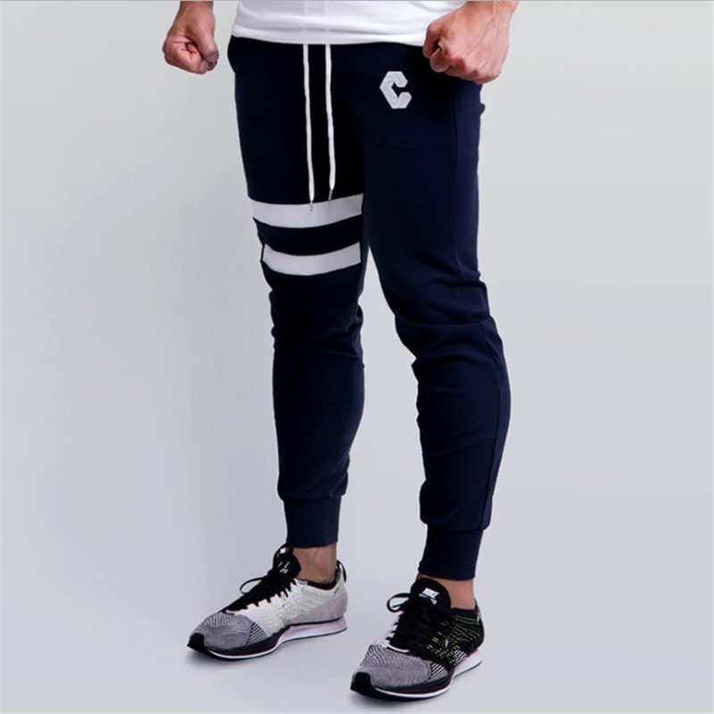 Autumn Men's High Quality Brand Men Pants Fitness Casual Elastic Pants Bodybuilding Clothing Casual Sweatpants Joggers Pants