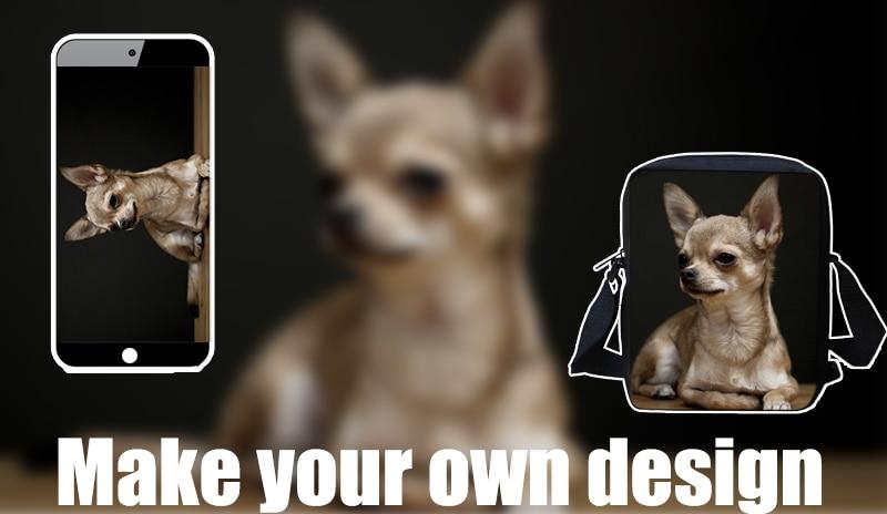 FORUDESIGNS/женская маленькая сумка через плечо с объемным рисунком собаки чихуахуа, модные женские сумки-мессенджеры, сумки через плечо