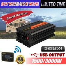 Onduleur modifié à onde sinusoïdale 12v vers 220v, 1500/3000W, convertisseur solaire pour voiture, transformateur