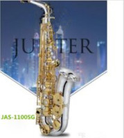 JAS 1100SG Alto Eb Tune Saxophone Brass Nickel Silver Plated Body Gold Lacquer Key Music Instrument E flat Sax with Case