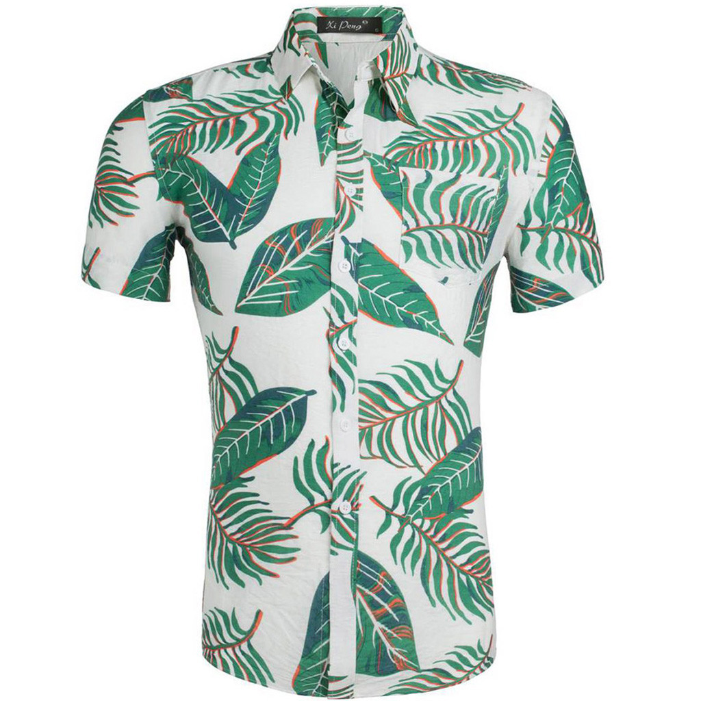 New Arrival Mens Hawaiian Shirt 2019 Male Casual Camisa Masculina Printed Beach Shirts Short Sleeve Brand Clothing   Apr26