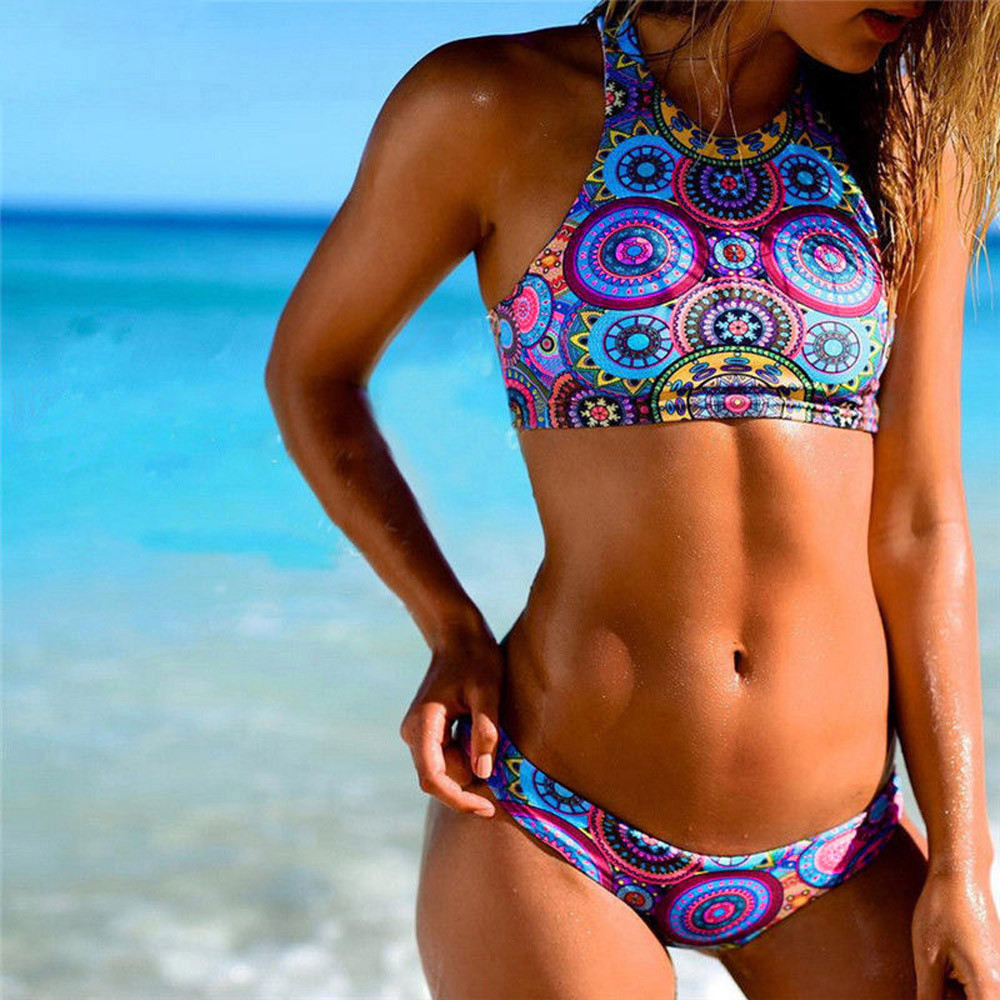 Women's Swimming Suit Sexy Bikini Swimsuit Women Bikini Set Bandage Push-Up Padded Bra Beach Swimwear Swimsuit Bathing Suit#Y20 1