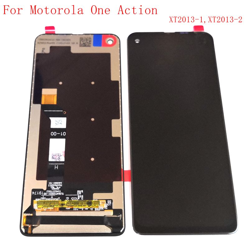 """6.3"""" Original For Motorola One Action XT2013-1 XT2013-2 Lcd Screen Display Touch Glass Digitizer Assembly 1080x2520"""