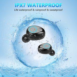 Image 5 - Bluetooth écouteurs TWS sans fil 5.0 casque étanche dans loreille sport écouteur 2000mAh charge batterie externe casque Microphone